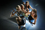 The Steinmark Award finalists, pose for portraits at the Rocky Mountain News studio. Individual...