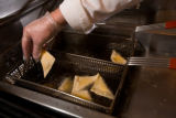 (Denver, Colorado, May 1, 2008) Baked Colorado Apple Empanadas are deep-fried.  Coors Field food...