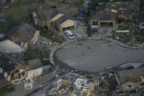 JOE565 Aerial view on Friday morning, May 23, 2008 of parts of Windsor, Colo., that was hit by a...