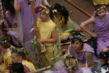 MJM545  Van Arsdale School students wait to perform A Midsummer Nights Dream as Thousands of...