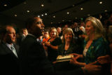 MJM1355  Barack Obama visits the crowd after giving a speech on education among other topics at...