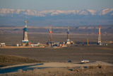 The affects of oil and natural gas extraction can be seen on the Wyoming landscape near Pinedale,...