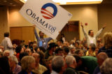 (PG7115)  Delegrates from Congressional District 3 have a chant off before the start of their...