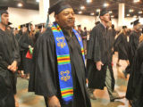 Thornel Ruff (cq) during the Spring 2008 Commencement for Metro State College held Sunday May...
