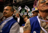 (PG7742)  Surrounded by supporters, Democratic U.S. Senate nominee Mark Udall waves to the crowd...