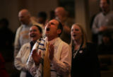 (PG2696)  People celebrate National Day of Prayer at the Pillar of Fire Congregation in Denver,...