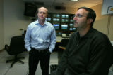 Executive producer Ricky Kirshner and Mark Squier, Democratic Strategist (r-l) are in the future...