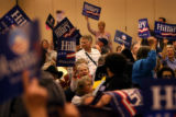 (PG7140)  Delegrates from Congressional District 3 have a chant off before the start of their...