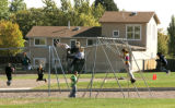 Kids play at Carl R. Zerger Elementary School in Westminster Tuesday October 7, 2008. The area is...