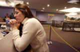 Denver, Colo.12/29/04--Eva DeLoera, inquires about getting food stamps at the City and County of...