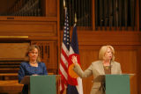 DM1557  MUSGRAVE_MARKEY_DEBATE+ 55080 Republican Marilyn Musgrave and Democrat Betsy Markey face...