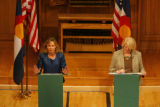 DM1566  MUSGRAVE_MARKEY_DEBATE+ 55080 Republican Marilyn Musgrave and Democrat Betsy Markey face...
