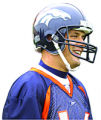 The Denver Broncos new quarterback Jake Plummer practices during a mini camp at Broncos...