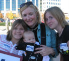 State Rep. Karen Middleton's daughter, her daughter,  Zoe, 10 weeks, and her stepdaughters Molly,...