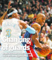 Denver Nuggets' Allen Iverson defends against Detroit Pistons' Chauncey Billups in the third...