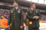 [(Denver, CO, Shot on: 1/2/05)] War heroes Michael Meinen(left), who lost his right leg and Brian...