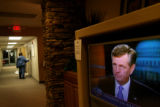 (PG10709) The Heather Gardens Community Center in Aurora, Colo., is empty of debate watchers on...
