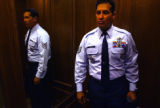 [Aurora, CO, PHOTO TAKEN OCTOBER 21, 2004-Air Force Sgt. Everett Costa on the elevator from his...
