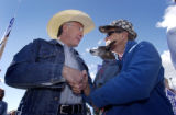 (Castle Rock, Colo., October 22, 2004)  Colorado Attorney General Ken Salazar, democratic...