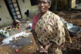 (1/17/05,Kaalapet India)   Rani Christraj lost everything in the tsunami and is still very...