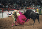 For story on the bloodless bullfights going on during the stock show. The matador's name is:...