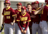 (l-r) Rocky Mountain Lobos players Scott Bachman, Chris Capps, Brandon Buchanan, (unknown), and...