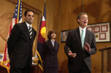 (DENVER, CO., April 19, 2005)  Gov. Bill Owens announces the appointment of David Rivera as...