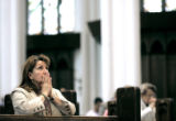 (DENVER, Co. - SHOT 4/19/2005) Edith Figueroa of Thornton prays as she celebrates mass at the...