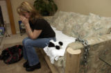 (DENVER, Colo., April 20, 2005) Rose consoles herself during discussing the loss of her husband...