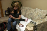 (DENVER, Colo., April 20, 2005) Rose holds her two year old granddaughter Reni, (cq Reni from...