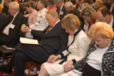 SH05E062PRAYER_Washington, DC May 5, 2005, left to right, Dr. James Dobson and Mrs. Shirley Dobson...
