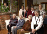 A group of women who have been friends for 75 years gathered at Helena Loerwald's home in...