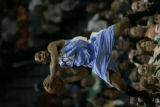 Denver Nuggets Greg Buckner against the San Antonio Spurs in the second half of Game 1 of their ...