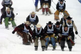 (STEAMBOAT SPRINGS Colo., January 18, 2005) Cowboys Judd Mortensen (#61-Dewey Az.), John Oconnor...