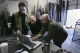 HGTV Dream House.  Architects Brad Tomecek (cq), left,  and Christopher Herr (cq) meet with...