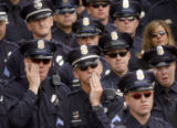 Funeral for slain DPD detective, Donald Young, held at 9 a.m. at the Cathedral Basilica of the...