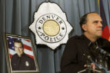 Denver Police Chief Gerald Whitman speaks at a press conference at the Denver Police headquarters...