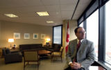 Michael Fine, Consul general of Canada, in his Denver office.  (HAL STOELZLE/ROCKY MOUNTAIN NEWS)...