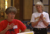 (CLEAR CREEK COUNTY shot on 5/3/05) Frances Matsumoto, (LEFT FOREGROUND WITH HAND TO CHEST),...