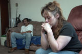 Jamie Barton(cq),, sits deep in thought within the residence where she lives at 2086 S. Pearl St.,...
