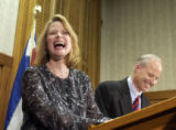 Colorado Treasurer Mike Coffman and his fiancee, Cynthia Honssinger, Chief Deputy Attorney General...