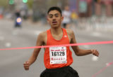 Jose Guerrero (cq), 13, of Denver, wins the 5K elite runners' race at the 23rd annual Cherry Creek...