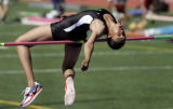 Montbello's Chelsea Taylor attempts to add to her new Colorado high school state track and field...