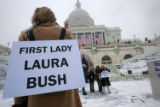 NYT7 - (NYT7) WASHINGTON -- Jan. 19, 2005 -- BUSH-INAUGURATION-2 -- Stand-ins for President Bush...