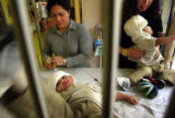NYT41 - (NYT41) VALHALLA, N.Y. -- Jan. 17, 2005 -- NY-SEPARATED-TWINS -- Arlene Aguirre, left,...