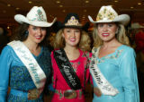 Tressie Knowlton (Miss Rodeo Colorado). Selena Ulch (Miss Rodeo America), and Maggie Engels (Miss...