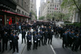 9/11 story.   New York on Sept 10, 2006.   Members of the NYFD outside St. Patrick's Cathedral in...