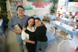 Juarez Restaurante, with owners Martina and Ramon Esperza, with their daughter, Lucia, age 26, at...