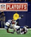 (INDIANAPOLIS, Ind. - Shot 1/9/2005) The Denver Broncos' Champ Bailey (#24, CB) gets tangled up...