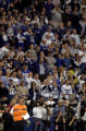(INDIANAPOLIS, Ind. - Shot 1/9/2005) Denver Broncos' head coach Mike Shanahan (lower left) watches...